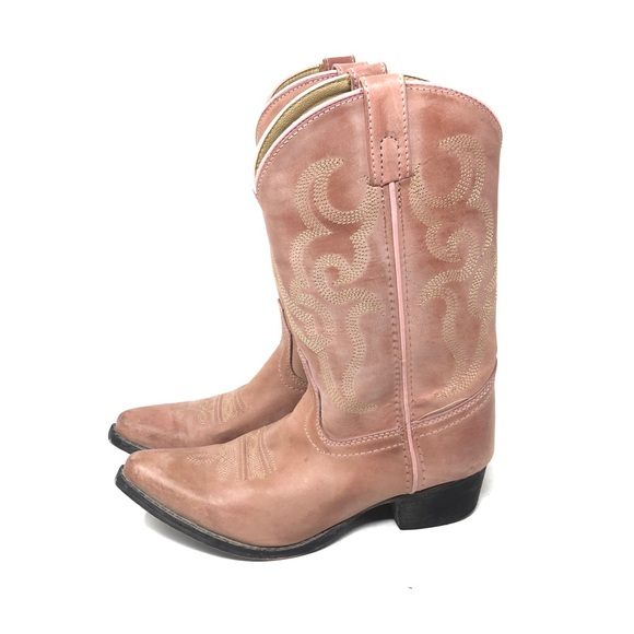 46e69a1ef3d Smoky Mountain Girls Pink Leather Cowboy Boots